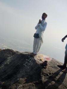 Meditacion Monto Tiruvannamalai India 1
